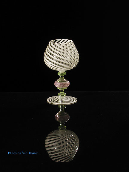Photo of a hand made goblet.